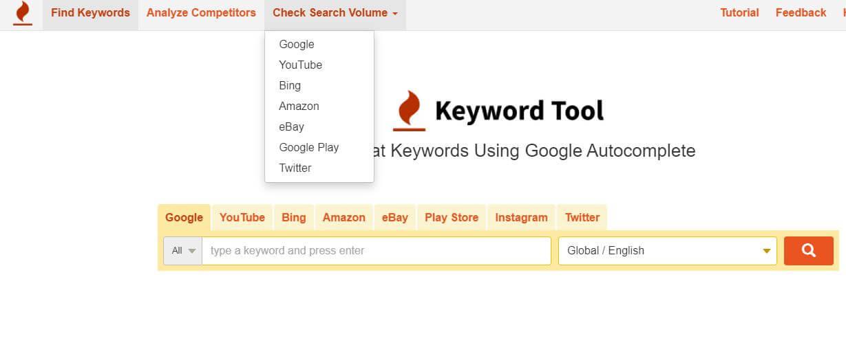 Keyword tool.io voorbeeld